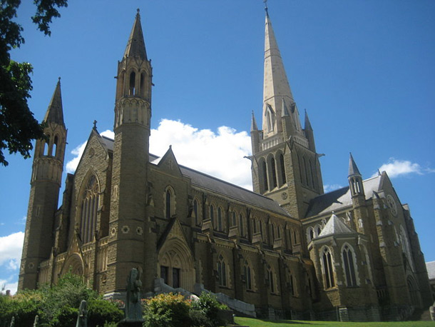 Sacred Heart Cathedral which was built in 1896 and being the largest Gothic cathedral in the southern hemisphere